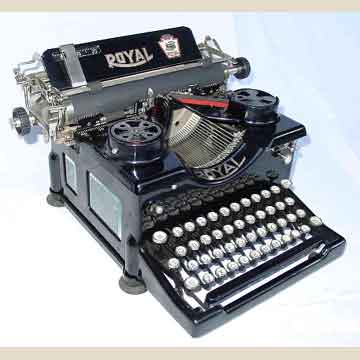 Product. Prior Royal Typewriters.